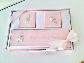 Cajita recuerdos bebé rosa + GEL REGALO