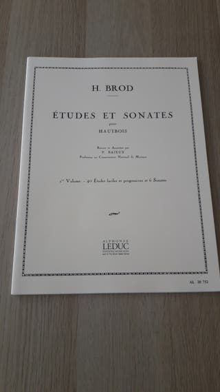 Estudios y Sonatas Oboe. H. Brod