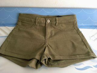 Shorts verdes H&M t36 nuevos