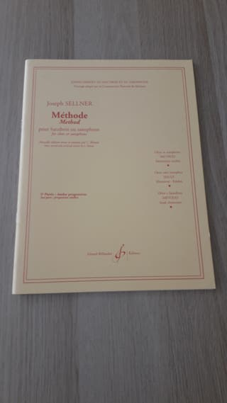 Método de oboe y saxo. Joseph Sellner