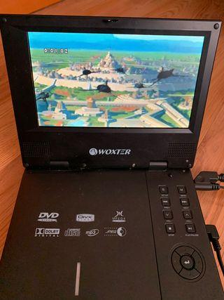 DVD portátil para uso en coche.