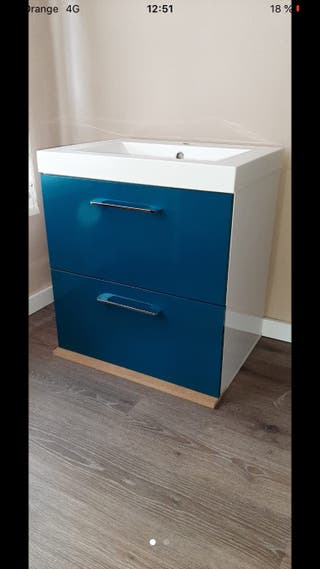 Mueble lavabo y pila 60cm