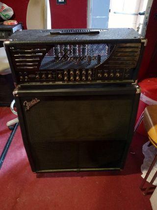 Cabezal Bugera y pantalla Fender 4X12