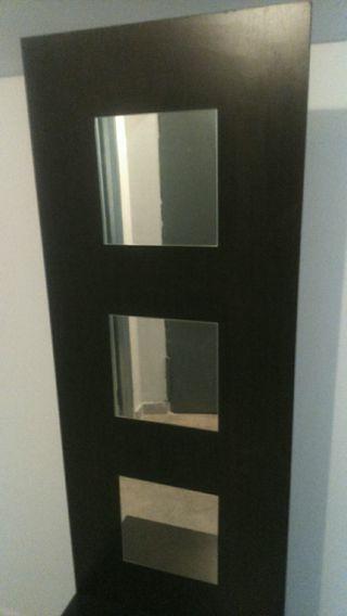 Mueble recibidor con espejo y cajon