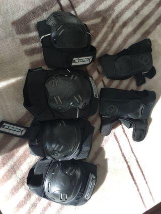 Kit de protecciones para patines , hockey..etc