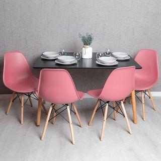 Mesa de comedor y 4 sillas modernas nordico