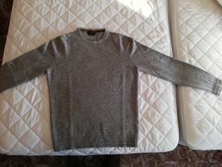 Jersey cashmere Massimo Dutti gris talla M