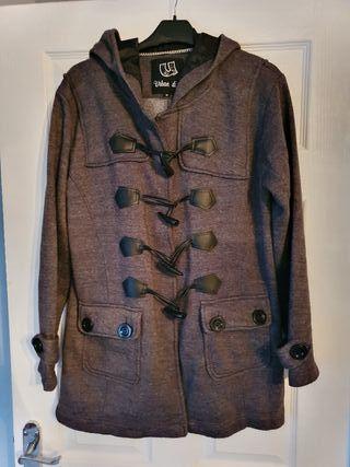 worn twice a lovely ladies grey coat size 12