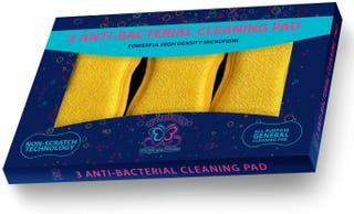 Pack of 3 Antibacterial Cleaning Cloth Pad