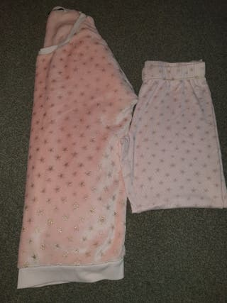 worn twice a lovely ladies pink fleece pjs size 12