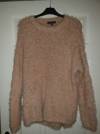 new alovely ladies beige thick woolly jumper 10-12