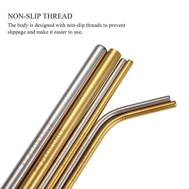 Stainless Steel Straw, Reusable Metal Straws(8pcs)