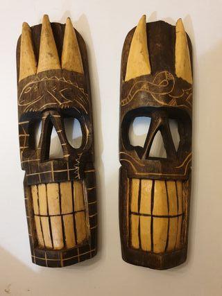 Máscaras Tótem artesanales mejicanas