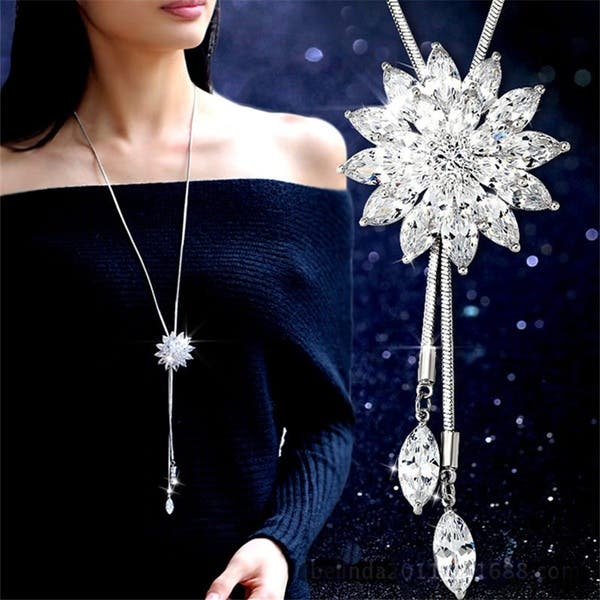 Pendant Necklace Women Wedding Jewelry
