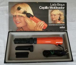 Braun Cepillo Moldeador Secador vintage años 70