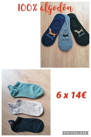Pack 6 pares de calcetines tobilleros e invisibles
