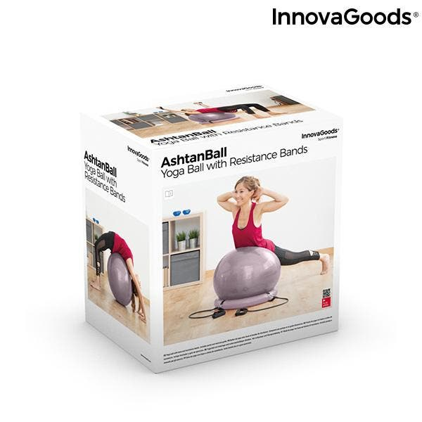 YOGA BALL WITH STABILITY RING+RESISTANCE BAND