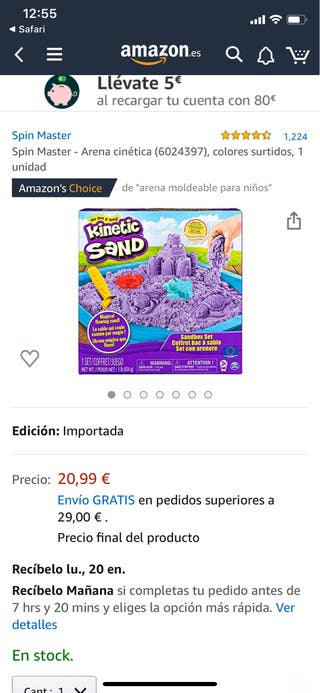 "Juego arena ""Kinetic Sand"""