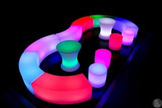 Muebles led luminosos