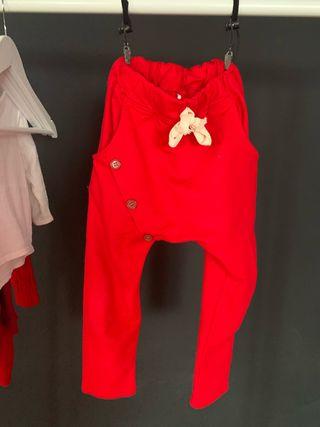 Pantalón unisex rojo