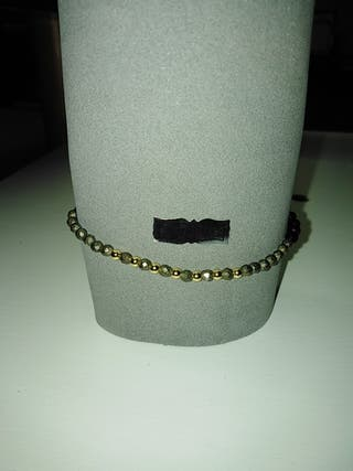 pulsera de plata bañada en oro de 18k