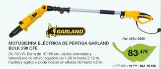 MOTOSIERRA ELÉCTRICA DE PÉRTIGA GARLAND