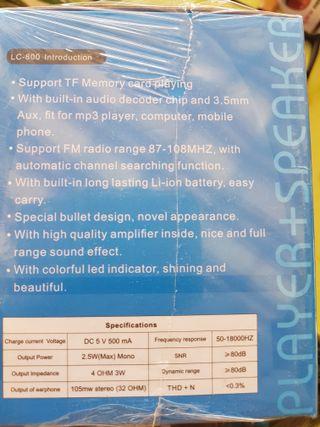 Altavoces LED Bluetooth. Nuevos.