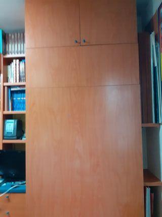 mueble cama abatible con altillo y colchon