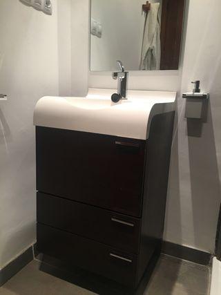 Mueble+encimera+grifo+espejo+toallero