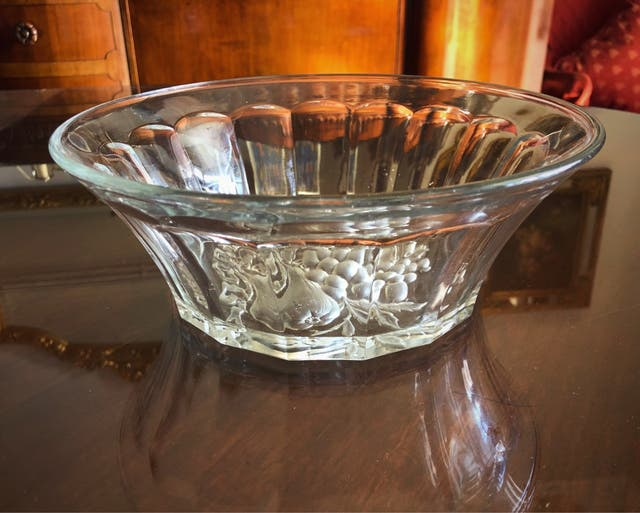 Rebaja! Centro de mesa cristal tallado middle age