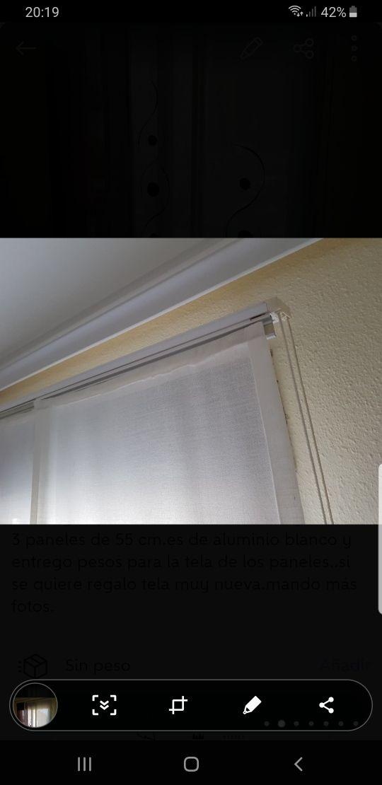 panel japonés habitación ventana cortina