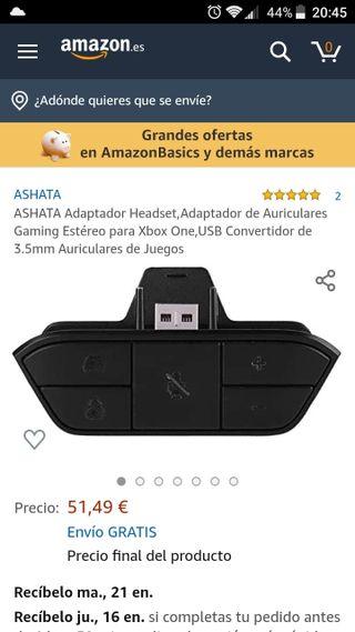 adaptador para cascos xbox one