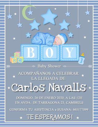invitaciones Baby shower, cumpleaños, bodas