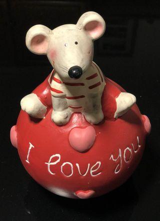 Hucha ratón I love you
