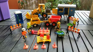 PLAYMOBIL GRAN LOTE CONSTRUCCIÓN