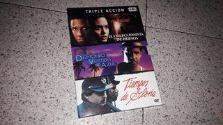 Triple Acción (Denzel Washington) 3 DVD