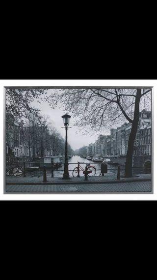 Cuadro Amsterdam ikea bici roja