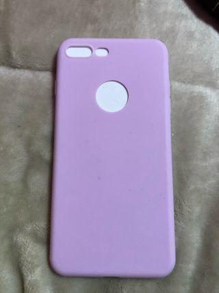 Funda iPhone 7 plus lila pastel