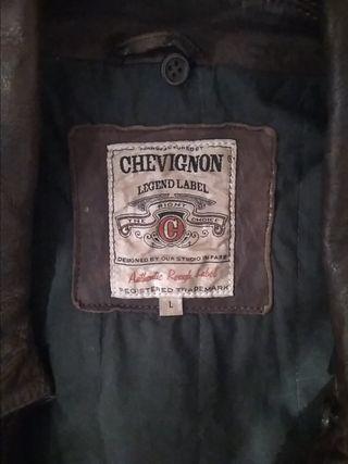 Cazadora de cuero 100% hombre Chevignon
