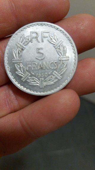moneda 5 francs 1950