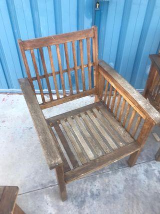 Lote de muebles para exterior de madera de teka