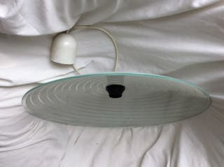 Lámpara de techo de plato de cristal