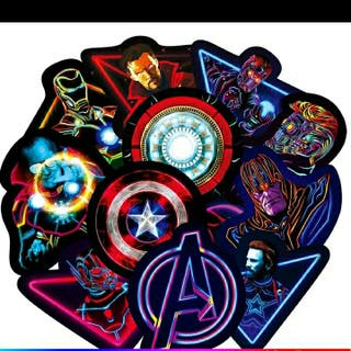 Stickers Marvel Neón.