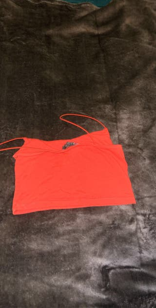 Red/Orange crop top