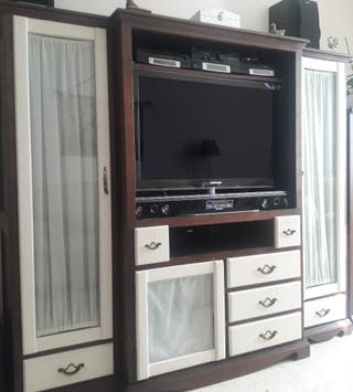 Mueble vitrina y TV