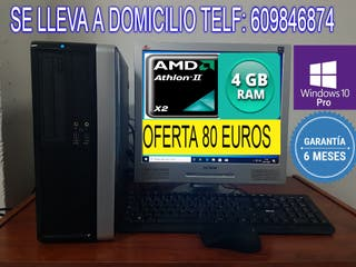 ORDENADOR COMPLETO AMD IIX2 CON 4 GB RAM GARANTIA