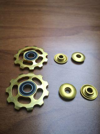 roldanas aluminio anodizado Dorado calidad