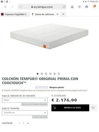 Colchon Tempur Original Prima 160x200 NUEVO