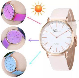 Reloj pulsera cambio de color