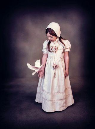 Vestido de comunión y capota